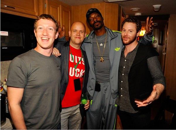 Efterfesten 2011 då Spotify och Facebook offentliggjorde sitt samarbete. Snoop Dogg flögs över för ett exklusivt gig.