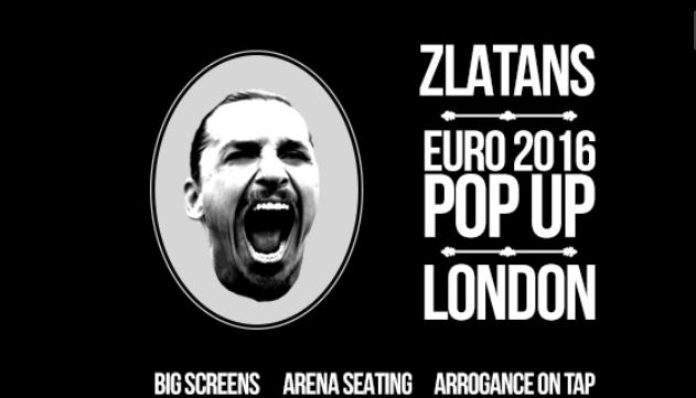 Zlatans Pop up London